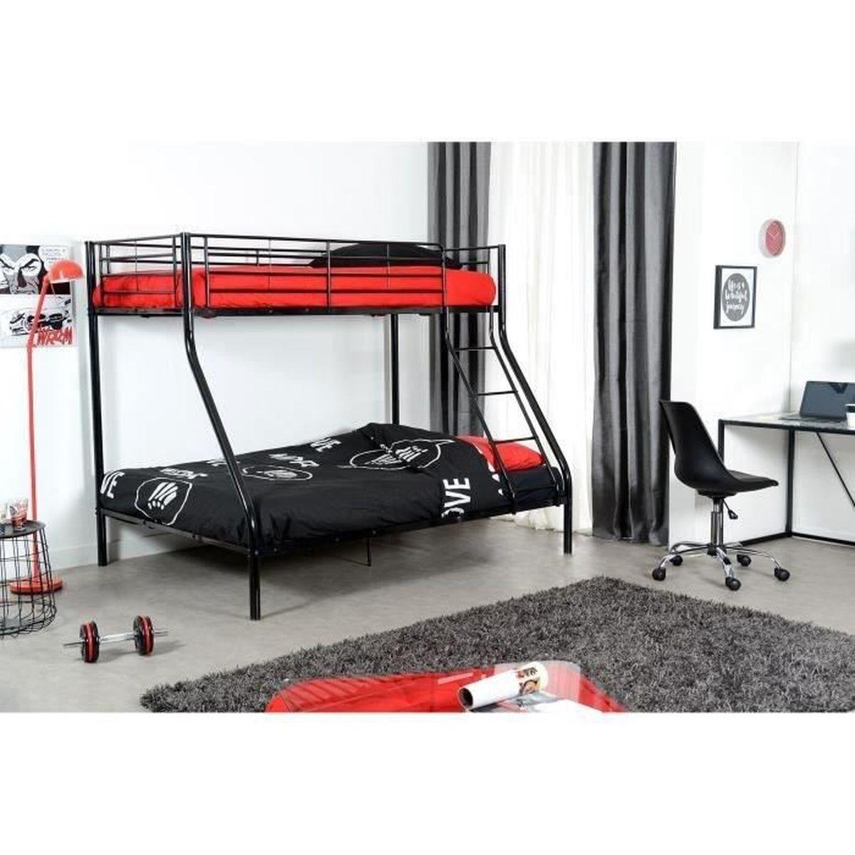 lit superpose enfant 90 140 achat vente lit superpose enfant 90 140 pas cher cdiscount. Black Bedroom Furniture Sets. Home Design Ideas