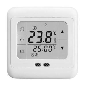 THERMOSTAT D'AMBIANCE Thermostat à Écran Tactile Blanc Contrôler la Temp