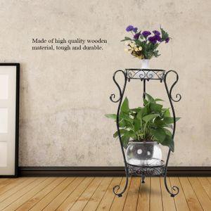 JARDINIÈRE - POT FLEUR  Support de Pot de Plante - Fleur en Fer à 2 Couche