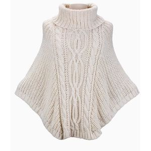 PULL Poncho Cape laine femme 2017 Made 🇮🇹