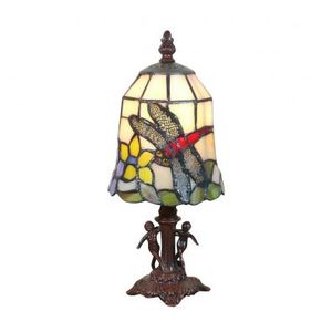LAMPE A POSER Lampe style Tiffany aux angelots