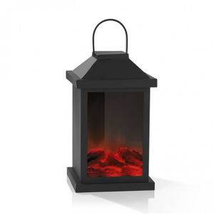 CHEMINÉE EASYmaxx Lanterne / Cheminée électrique LED flamme
