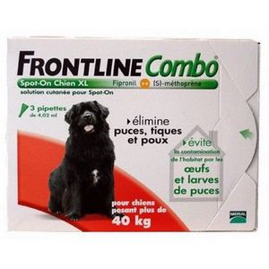 ANTIPARASITAIRE Antiparasites chiens 3 pièces  Frontline combo …