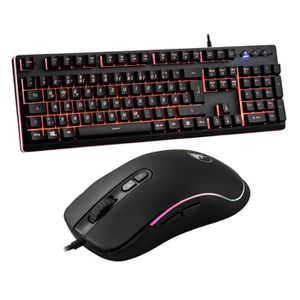 PACK CLAVIER - SOURIS Pack clavier + souris gamer - Clavier allemand - 4