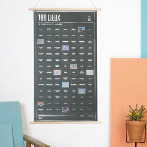 AFFICHE - POSTER Affiche 100 Lieux à voir - DOIY