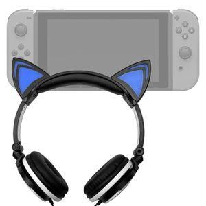 HOUSSE DE TRANSPORT Casque audio noir lumineux pour Console de jeux Ni
