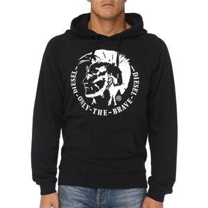 6232b16a846ab DIESEL Sweat Capuche Homme - Achat   Vente sweatshirt DIESEL Sweat ...