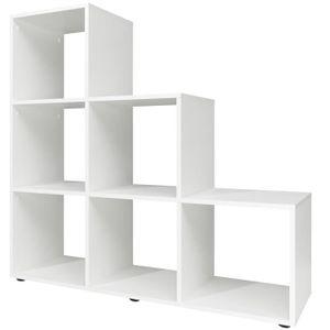 meuble tagre tagre escalier 6 cases type 10 105x32x106cm de