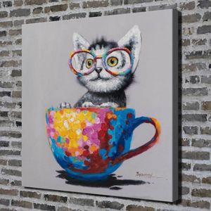 TABLEAU - TOILE Home Décor Wall Art Peinture à l'huile Colorful Gl
