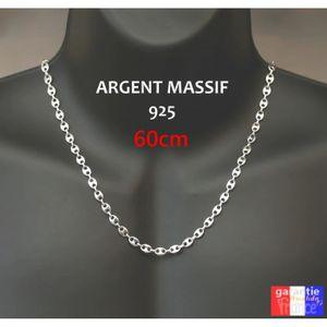 CHAINE DE COU SEULE Collier Pour Homme maille Grain De Café 6mm. Chain