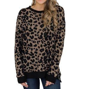 46610600cca2 CHEMISE - CHEMISETTE Leopard femmes Blouses Top Chemise à manches longu ...
