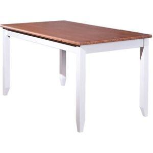TABLE À MANGER SEULE Table à manger en bois massif - Dim : L 160 x P 90