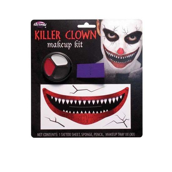 ACCESSOIRE DÉGUISEMENT Kit de maquillage Halloween grand sourire Clown Ki