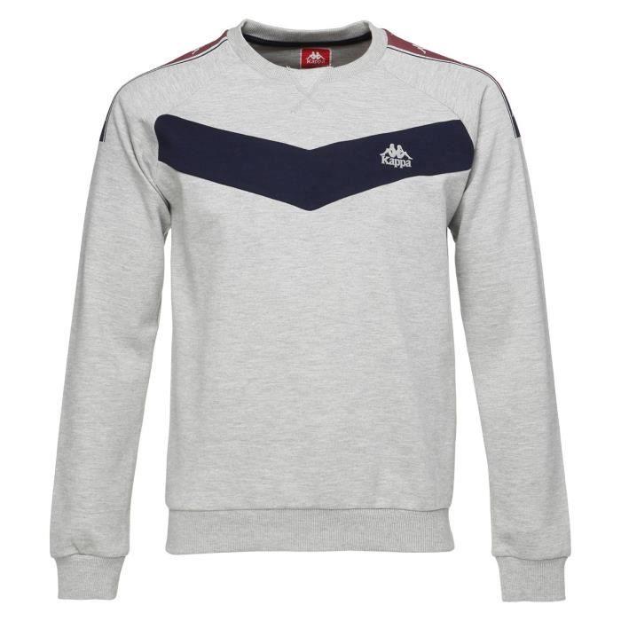 KAPPA Sweat-shirt Aristote - Homme - Gris