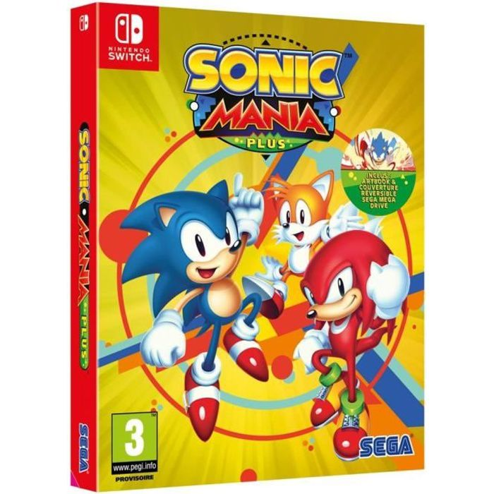 JEU NINTENDO SWITCH Sonic Mania Plus Jeu Switch