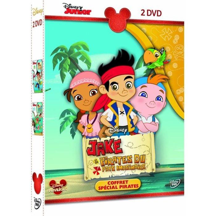 Coffret dvd jake et les pirates du pays imaginaire en dvd dessin anim pas cher cdiscount - Jake et les pirates ...