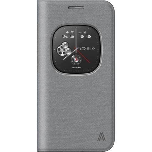 ANYMODE Etui à rabat à zone transparente pour Samsung Galaxy S6 G920 - Gris