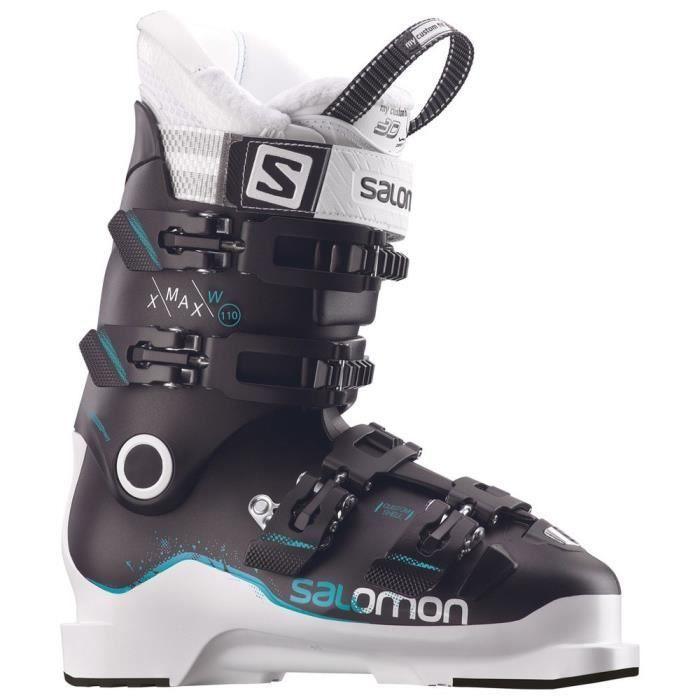 Chaussures de ski - X Max 110 - Flex Vulgarisé : Rigide - Flex : 110 - Largeur Métatarse : 98 Mm - Type De Construction De La Coque : Portefeuille (Overlap/2 Pièces) - Chausson Thermo-FormableCHAUSSURES DE SKI