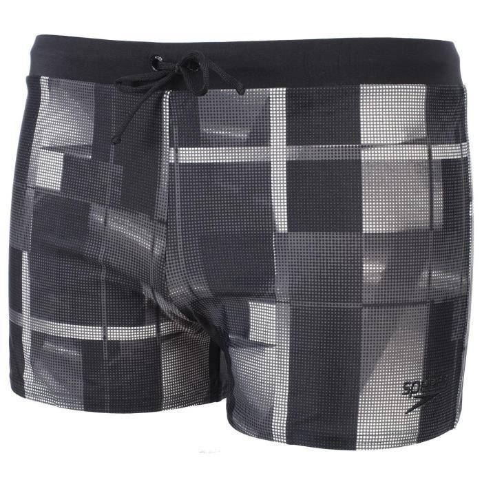 Boxer de bain Valmilton - Noir et gris