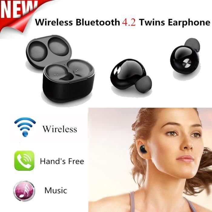 Mini Vrai Sans Fil Bluetooth Stéréo Twins Intra-auriculaires Écouteurs Em12444