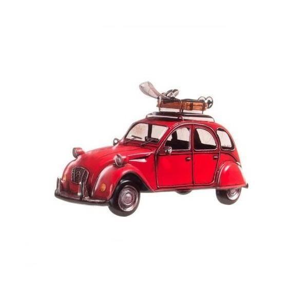 d cor mural voiture citro n 2cv 43 x 30 cm rouge. Black Bedroom Furniture Sets. Home Design Ideas