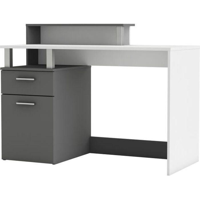 oracle bureau multim dia blanc et gris l 140 cm achat vente bureau oracle bureau gris et. Black Bedroom Furniture Sets. Home Design Ideas