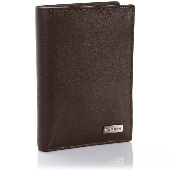 99f962ce847 Portefeuille design Portefeuille homme cuir marron N1911 Cadeau homme