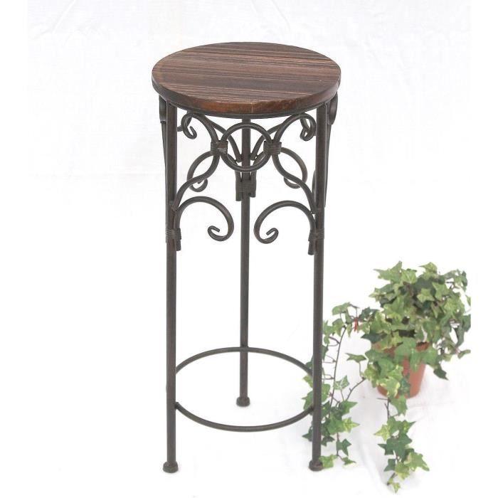 support roulettes pour plante 12590 58 cm patine table d 39 appoint achat vente table d. Black Bedroom Furniture Sets. Home Design Ideas
