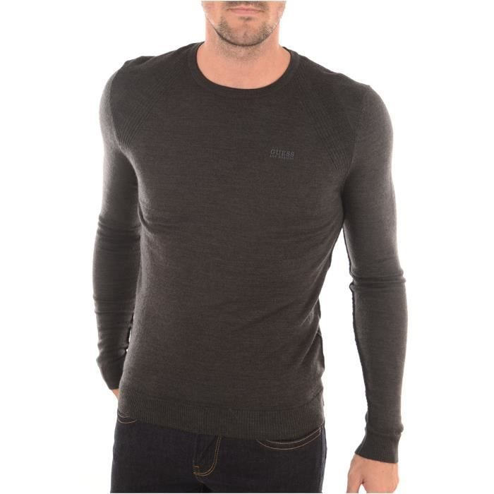 Pull Homme Guess Gris - Achat   Vente pull - Soldes  dès le 9 ... 931a17667ae