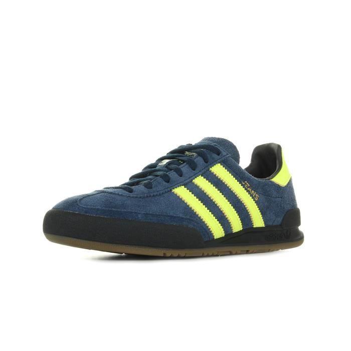 Chaussures Baskets adidas homme Bermuda taille Bleu marine Bleue Cuir Lacets