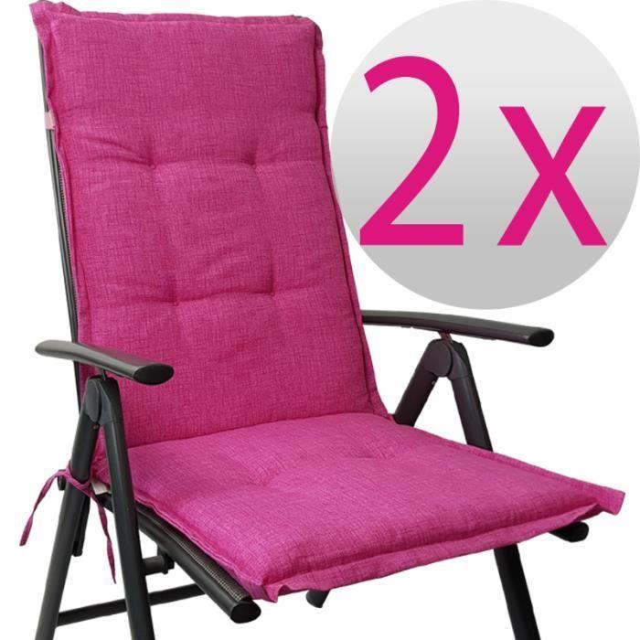 2x Chaise Longue Tino 118 X 50 55 Cm En Rose
