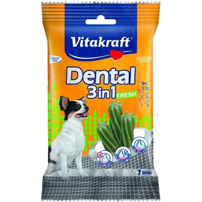 Vitakraft Dental 3-en-1 Fresh Xs - 70 G Pour Chien