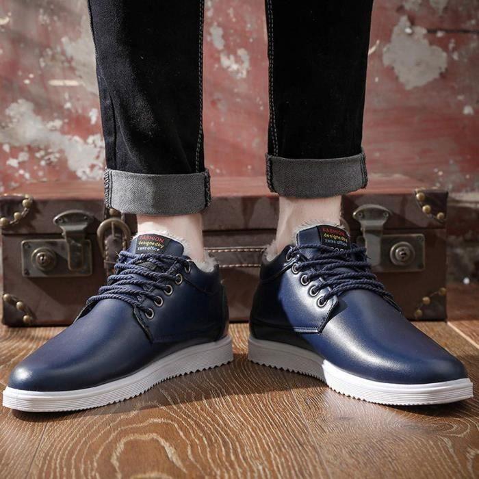 Baskets botte Adulte Cuir Neige Chaussures Mixte Homme Randonnée En Hiver De Botte Chaudement Mode rt6twqB