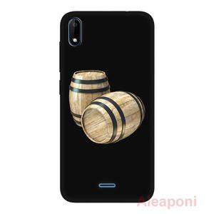 COQUE - BUMPER Coque pour Wiko Y50 Smartphone Tonneau en bois sil