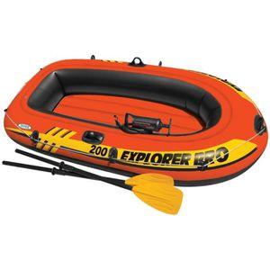 JEUX DE PISCINE P112 Set bateau gonflable avec rames + pompe Intex