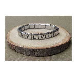 Bracelet italien prénom lettre + logo coeur rouge. - Achat   Vente ... 1cf8fbace1e8