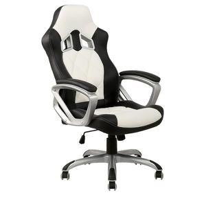 CHAISE DE BUREAU Chaise de bureau blanche et noire racing