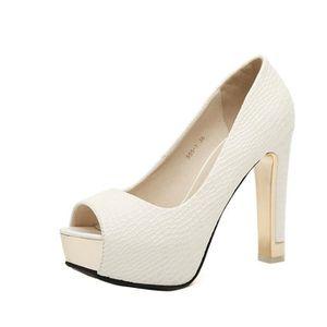 ESCARPIN Escarpin Chaussure Femme Sexy Plateforme Bouche po