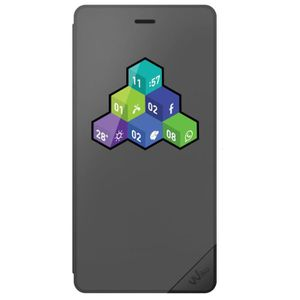 COQUE - BUMPER Wiko Folio Wicube Tommy Gris Anthracite