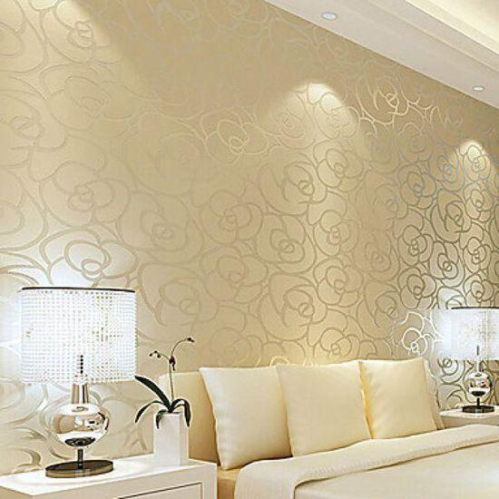 Papier Peint Contemporain Pour Revetement Mural A Motif Floral Miel