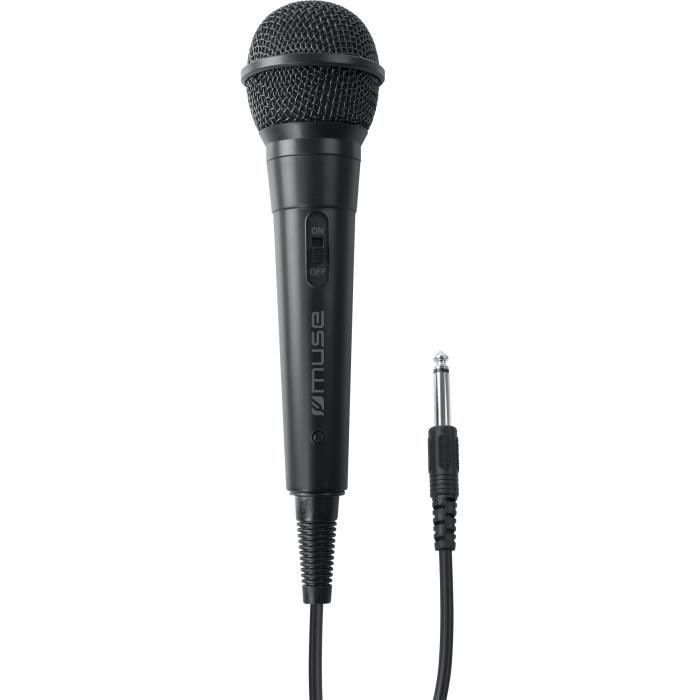 MUSE MC-20 B Microphone filaire - Réponse en fréquence: 30Hz – 15kHz - Sensibilité: -73dB ± 3dB [0db