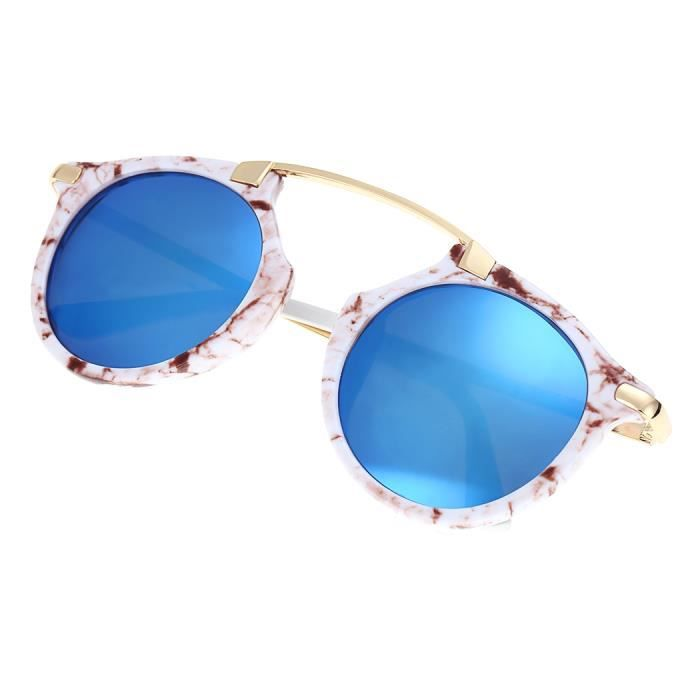 Lunettes De Soleil Finejo Vintage Unisexe Rétro Casual Bleu