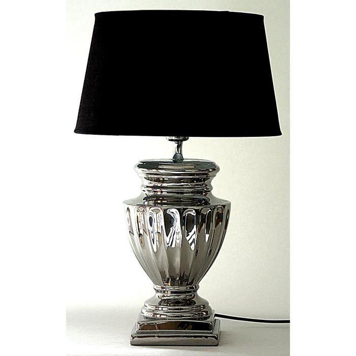 Metal Lampe Ceramique Ronde Effet Achat 55 Inox Cm Vente 34Rj5LA