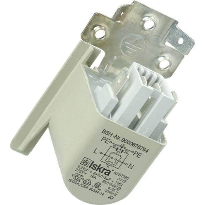 PIÈCE LAVAGE-SÉCHAGE  Condensateur anti parasite - Sèche-linge - BOSCH,