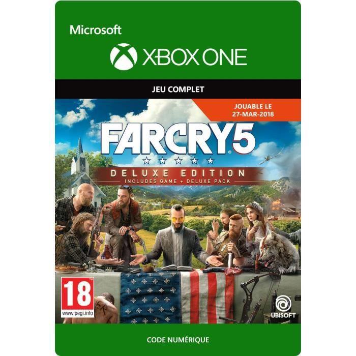 JEU XBOX ONE À TÉLÉCHARGER Far Cry 5: Deluxe Edition Jeu Xbox One à télécharg