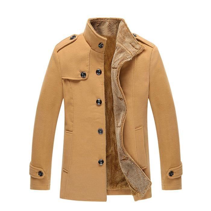 Coupe-Vent Hommes Automne et hiver Chaud Veste de doublure en laine homme  Nouvelle Mode Hauts en cachemire Plus De Couleur M-4XL c95a579b2dd6