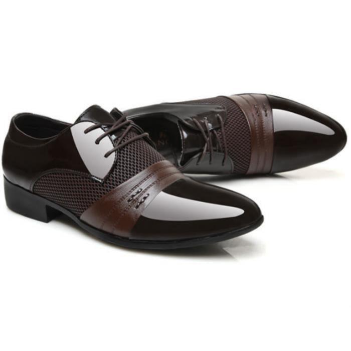 Homme Richelieu Soulier Chaussure de Cuir de loisirs Casual Classique A Lacet ubhmkjJJPs