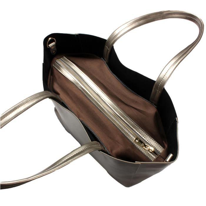 Sac à main Véritable fourre-tout en cuir souple Sac à bandoulière chaud M53ON