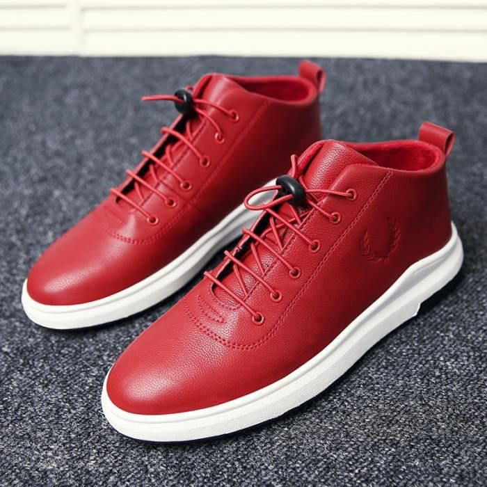 Skateshoes Homme Hiver - automne l'exécution Sneaker antidérapante hommes rouge taille43