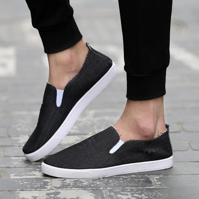 De haute qualité nouvelle mode 2016 été Mules Chaussures de toile pour hommes respirante Mode casual Mocassins Driving Chaussures jvLJFdlaVw